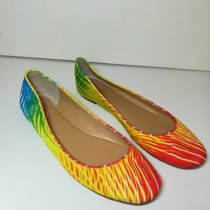Nine West Brazil Colorful Flats size 8